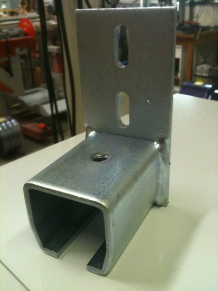 Wall Mount Track End Stop - Allows Perpendicular Track to Attach Against Wall
