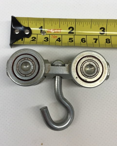 4 Wheel Steel Ball Bearing Swivel Roller for Industrial Curtains - Heavy Duty