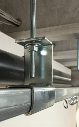 16 Gauge Threaded Rod Connector - Allows Track to be suspended with 3/8 rod