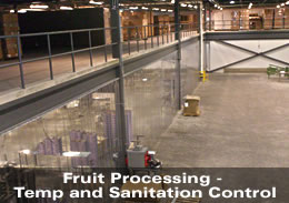 Fruit Proccessing - Temperature and Sanitation Control